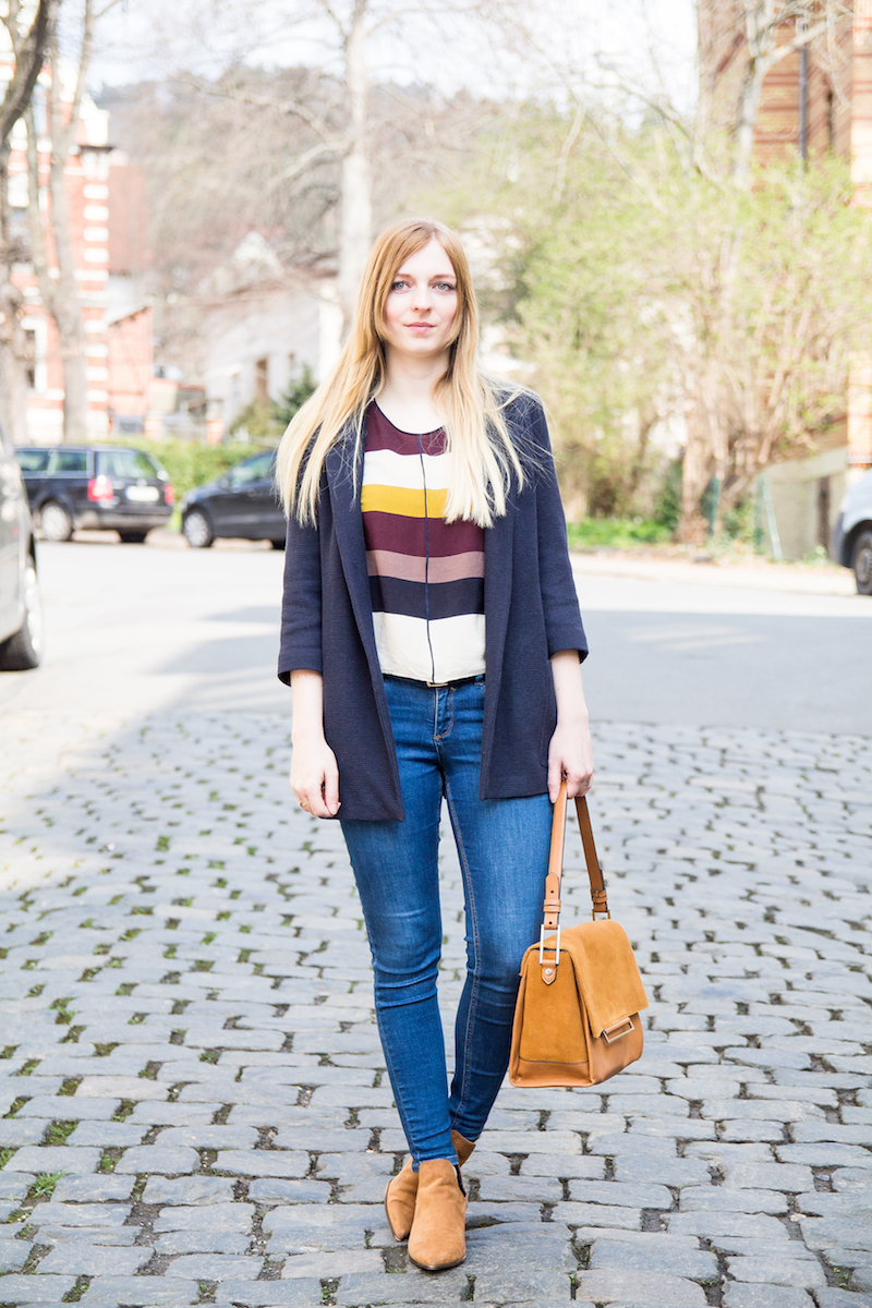 Streetstyle, Frühling, Outfit, spring, look, colored stripes