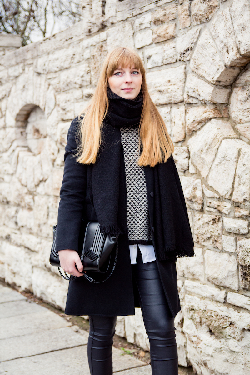 black and white, Outfit, Layering, monochrom,