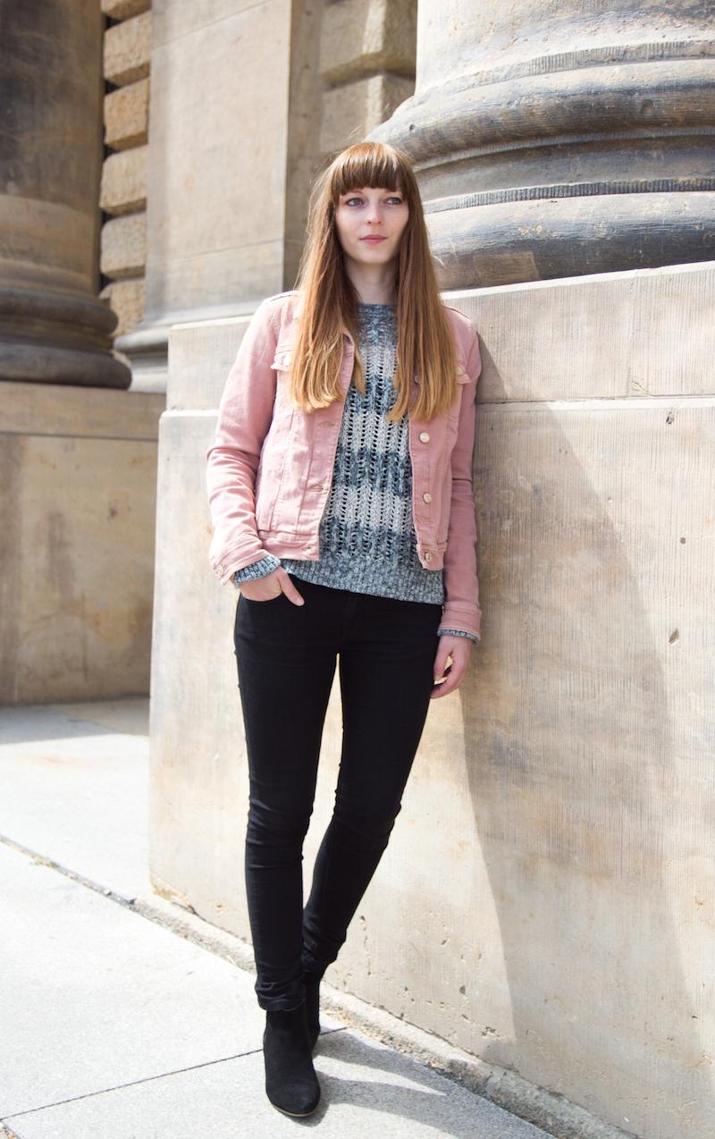 rose jacket, rosa jeansjacke