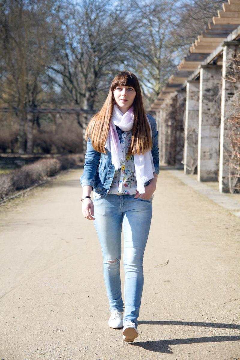 time for spring, denim on denim, outfit, styleblogger