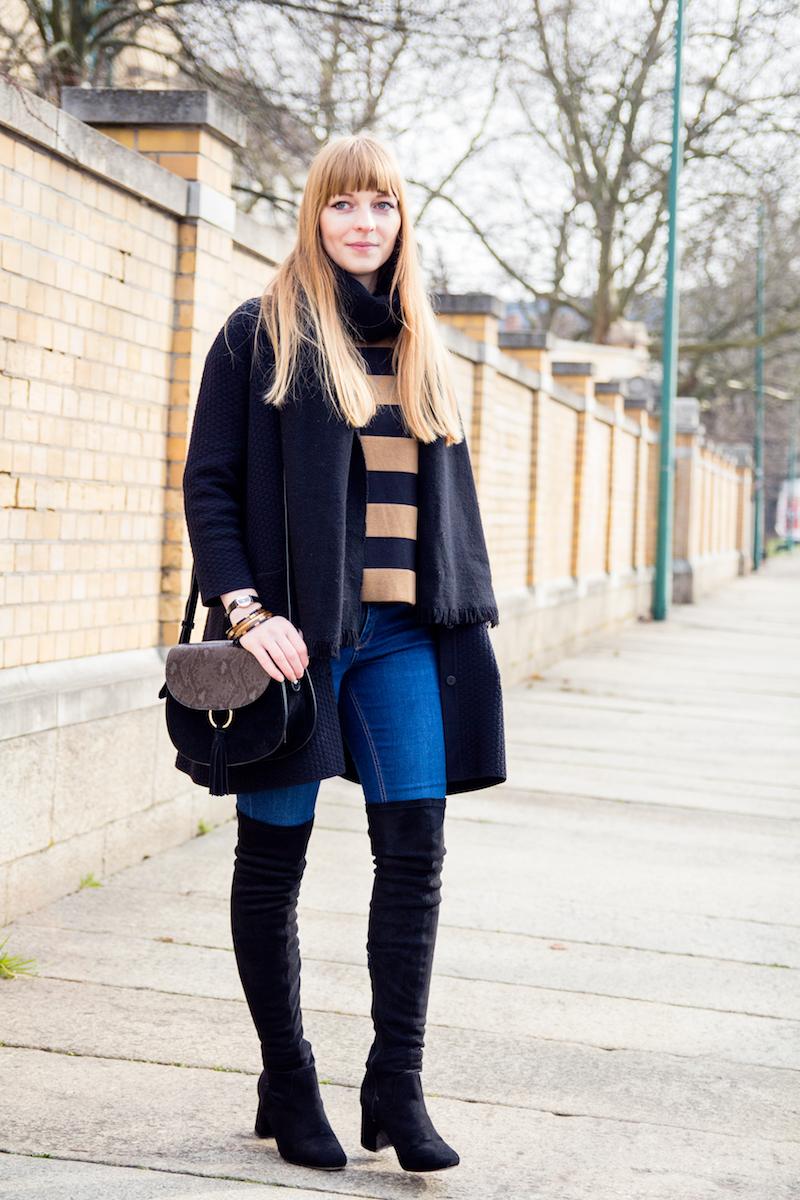 Fashionblogger, Modeblogger, over the knee, Overknee Schuhe, Stiefel, Jeans, wie kombiniere ich, Inspiration