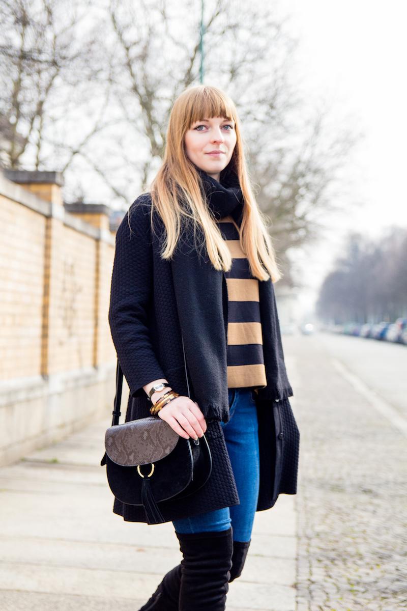 Fashionblogger, Overknees über Jeans, wie kombiniere ich, how to wear