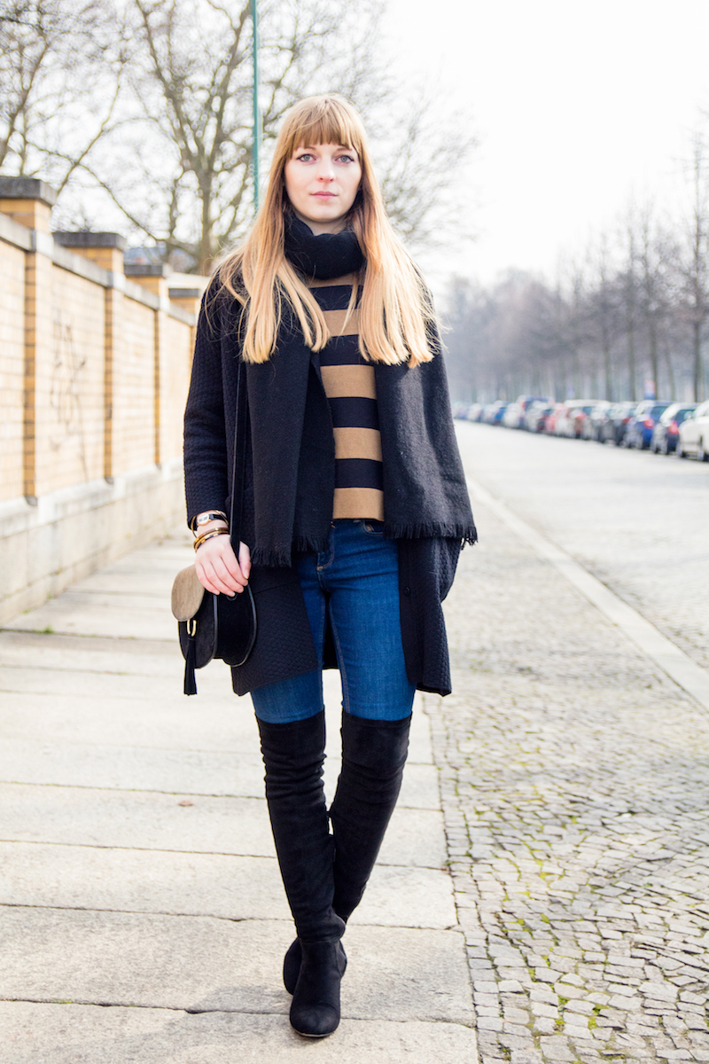 stripes, Fashionblogger, Overknee Stiefel, over the knee, thigh high boots, how to wear