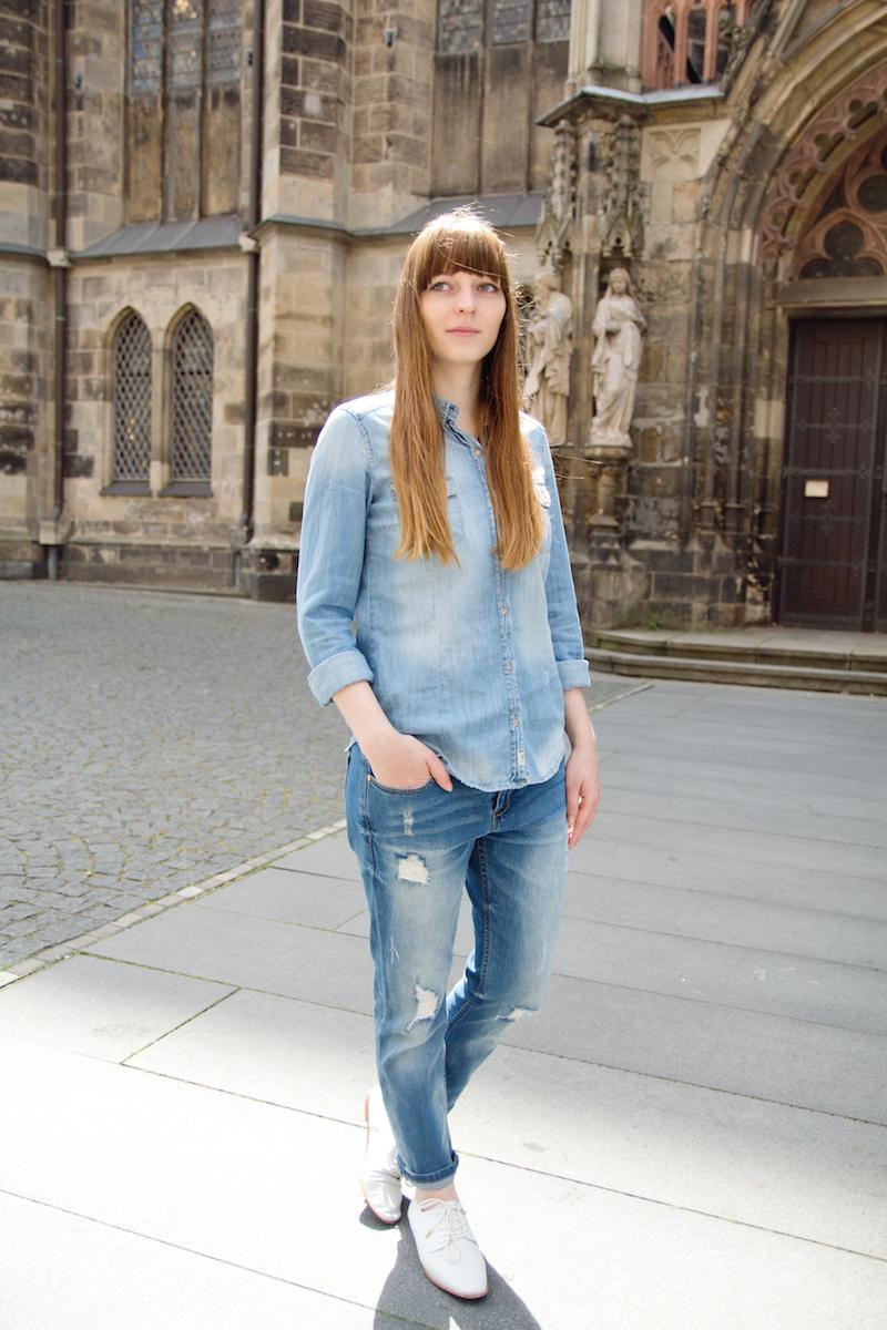 denim on denim, jeans on jeans, blogegrstyle, boyfriend jeans