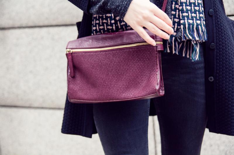 detail, Tasche, burgundy bag, dark red, zara Tasche