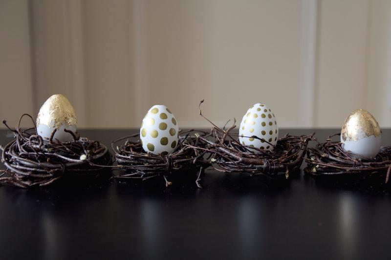 easter diy, oster diy, golden eggs, dotted eggs