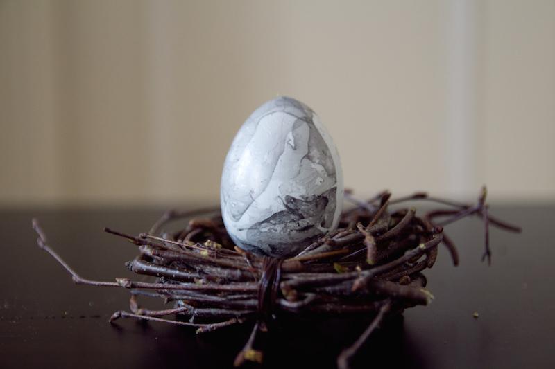 marble egg, diy, easter craft, ostern, marmor ei,