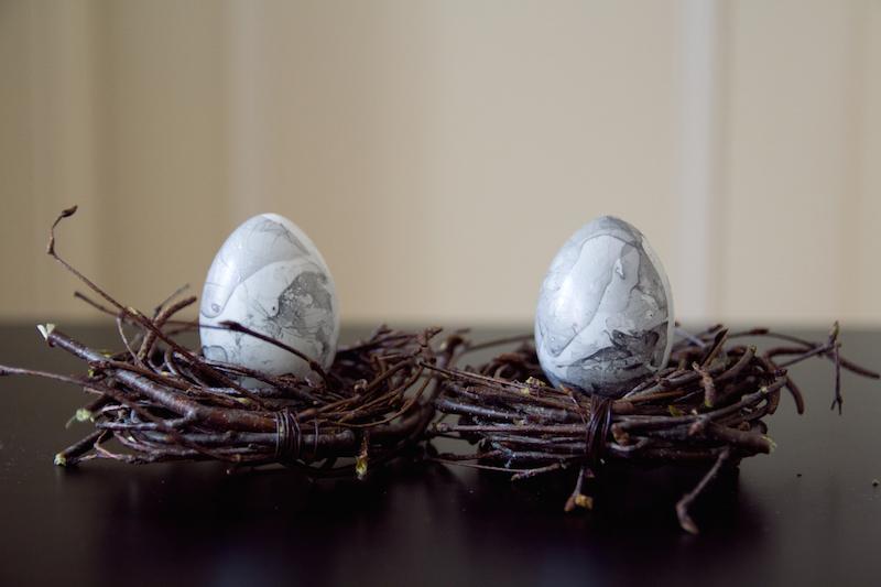 marble egg, diy easter, craft, marmor,