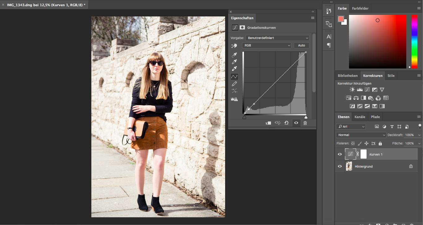 Tipps, Bildbearbeitung, Photoshop, Gradationskurve, Fashionblogger, Styleblog, Outfitbilder
