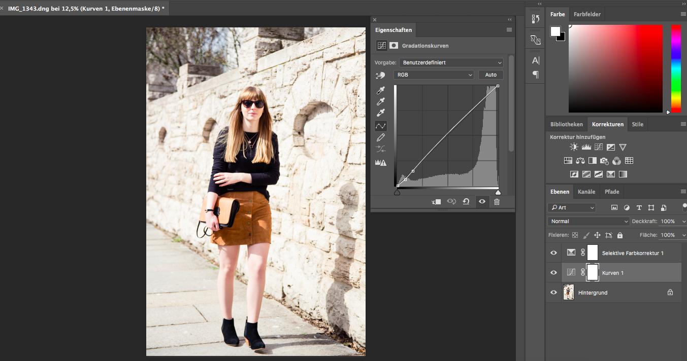 Tipps, Bildbearbeitung, Fashionblogger, Styleblog, Outfitbilder, Gradationskurve