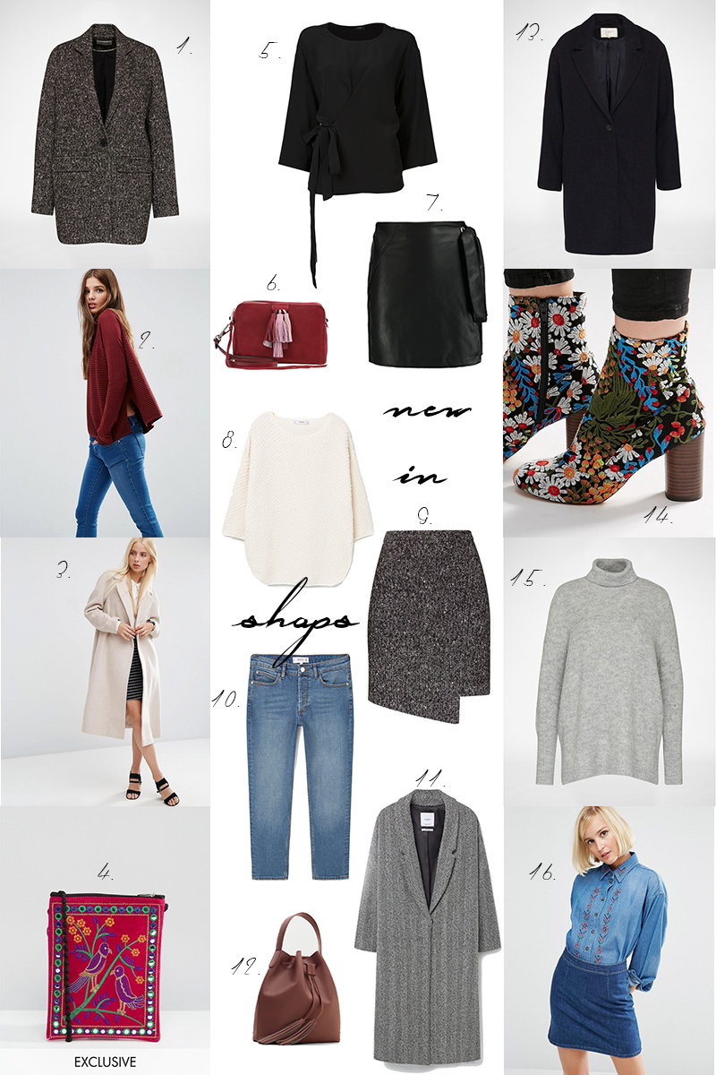 new in shops, melierter Rock, fall fashion, Jaquard boots, bestickte Schuhe, Strickpullover