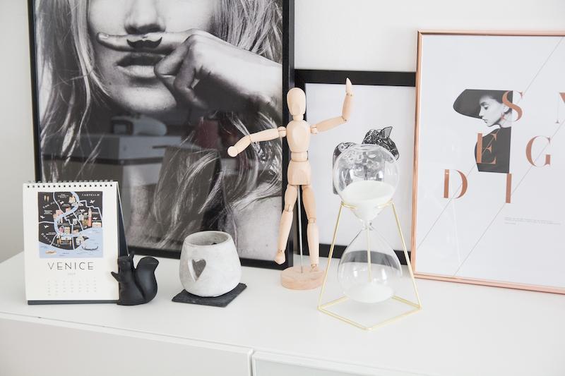 Deko, Interior, Poster, Sanduhr, Minimal, Home