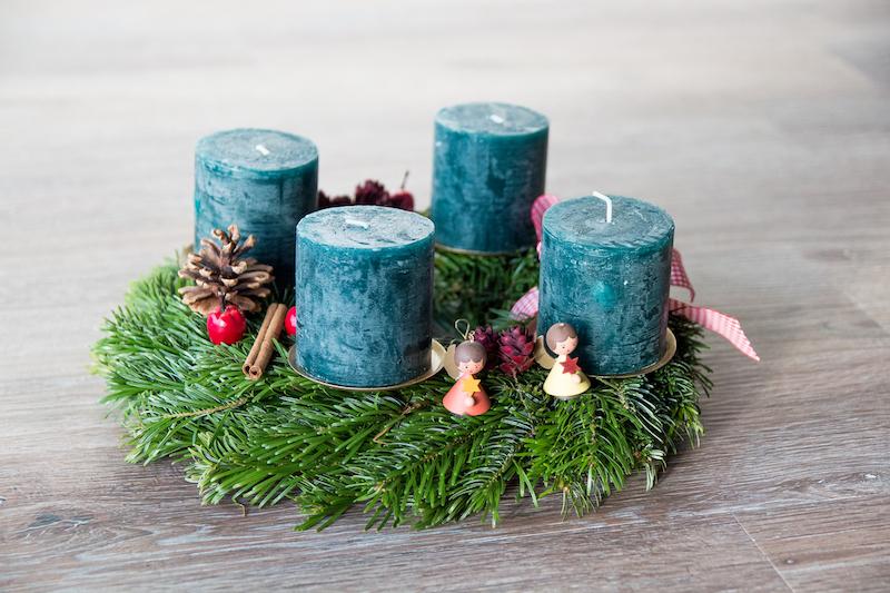 DIY, Adventskranz, Weihnachten