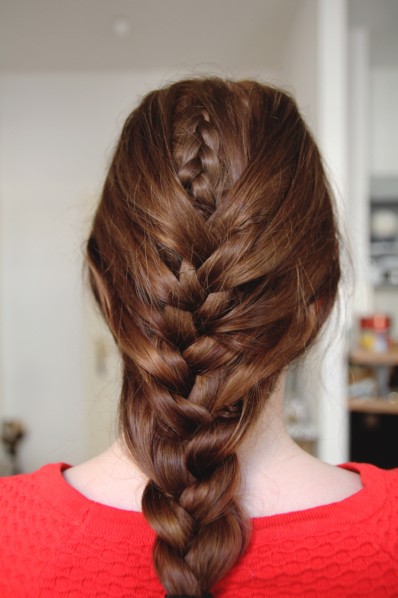 double braid, tutorial