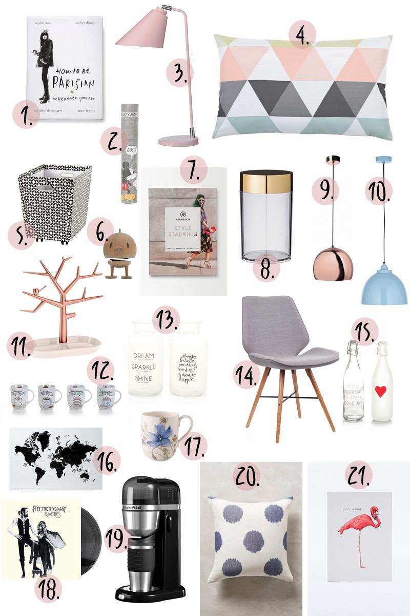 Wonderful Topshop   Set Aus Zwölf Bleistiften Im Micky Maus Design; 3. Tischlampe,  Rosé Nude (via Desiary); 4. Kissen: STUDIO COPENHAGEN (via Fashion For Home);  5.