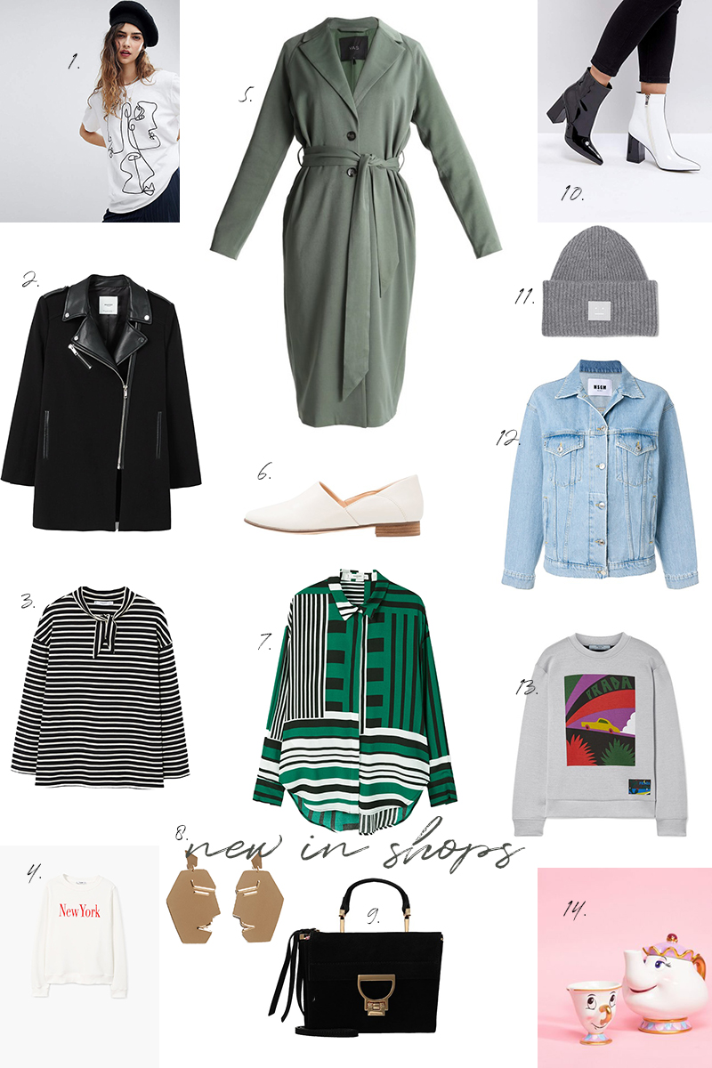 new in shops, shopping, blogger, trends, monochrome, stripes, sweatshirt, one line drawing,