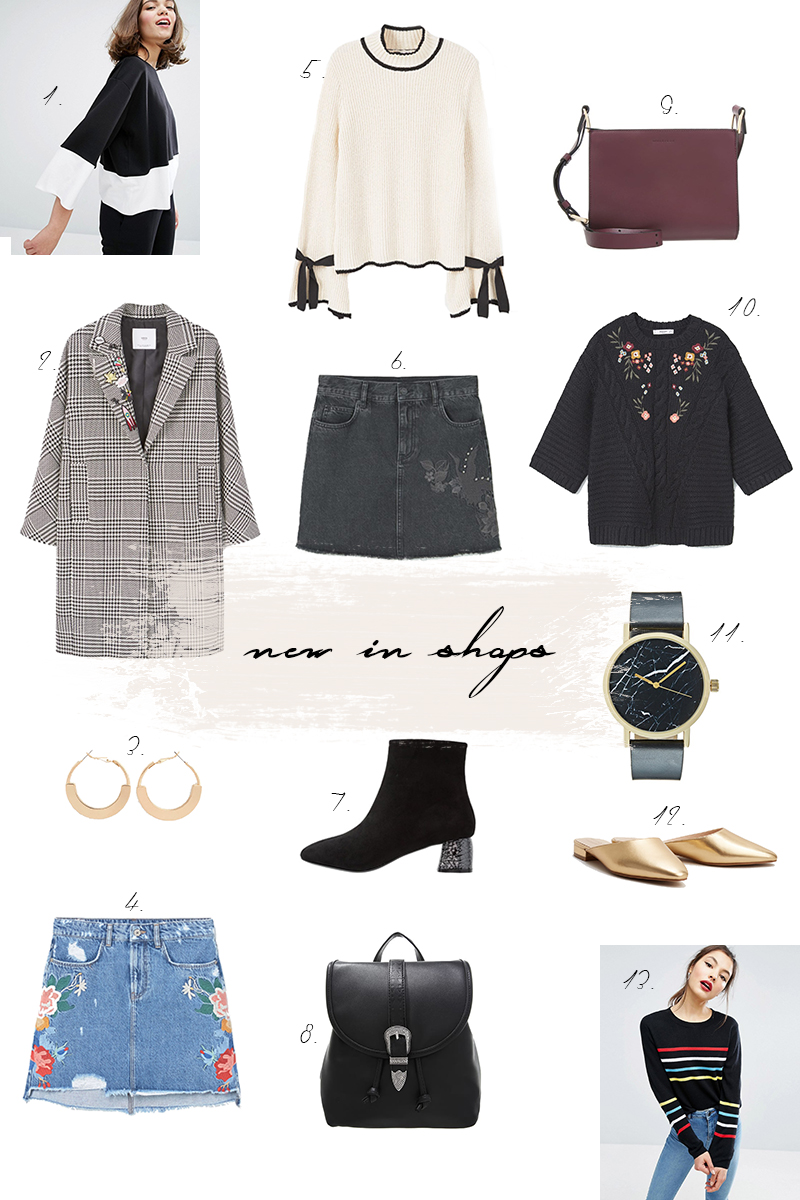 new in shops, winter, shopping, trends, Karomantel, Trompetenärmel