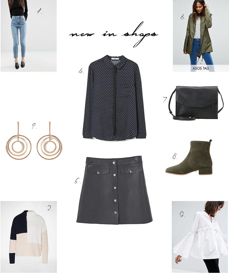 shopping, Trend, Trompetenärmel, Lederrock