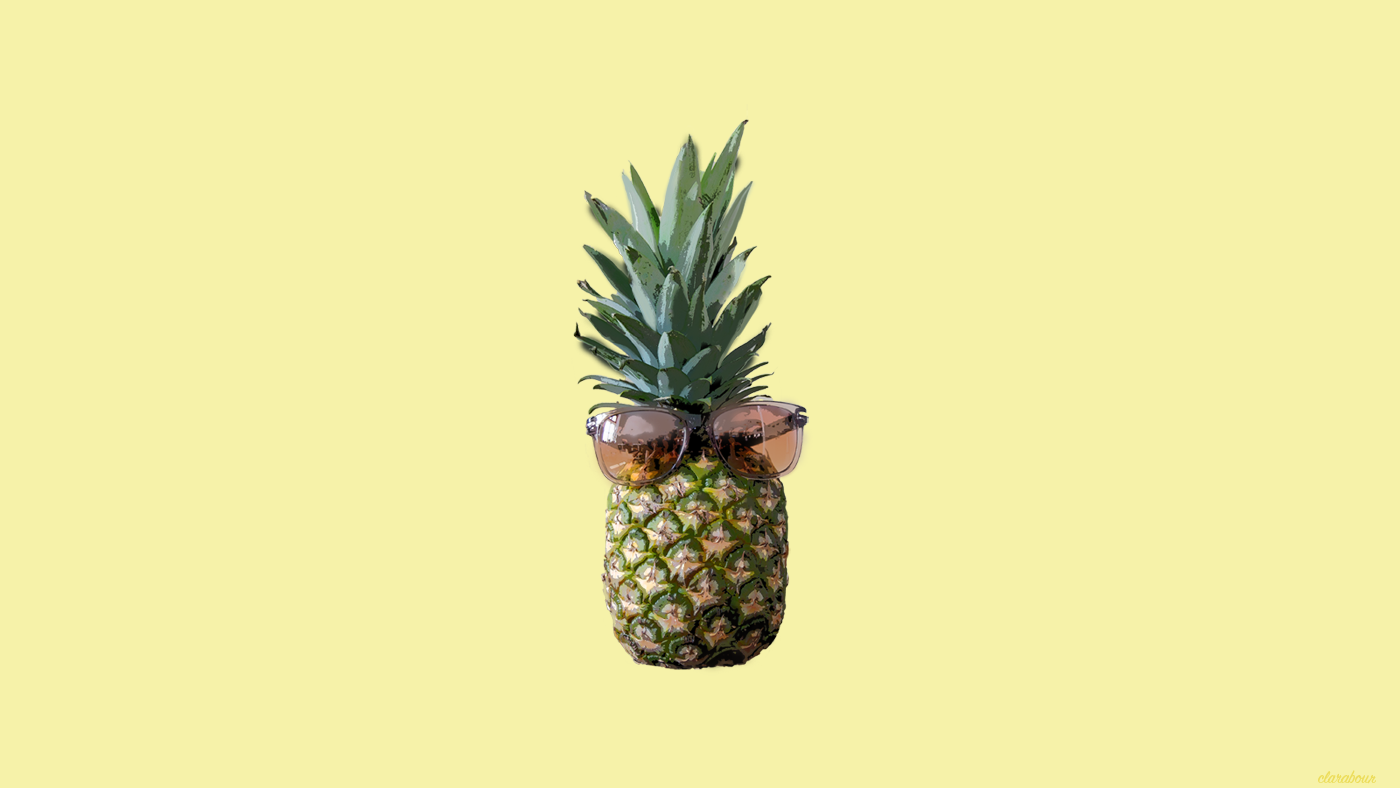 pineapple with sunglasses on, Ananas mit Sonnenbrillen, Freebie, wallpaper, Desktophintergrund