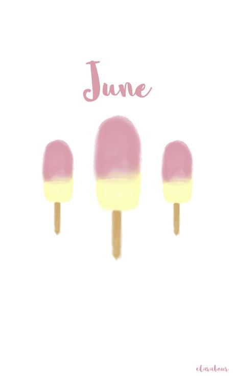 Wallpaper, handy, Juni, June, Freebie, kostenlos, ice, eis, ice cream