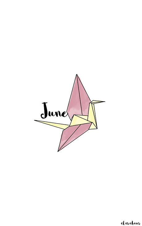 Wallpaper, Juni, Handy, Hintergrund, June, crane, origami