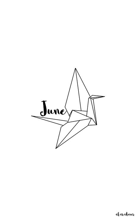 Smartphone, Handy, wallpaper, Juni, origami