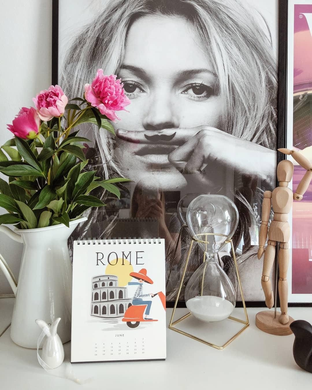 Home, Interior, Deko, Blogger, Poster, Bilder, Sanduhr, Pfingstrosen