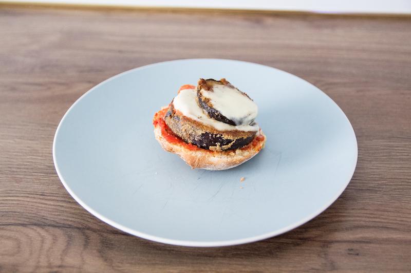 Hamburger, vegetarisch, Aubergine