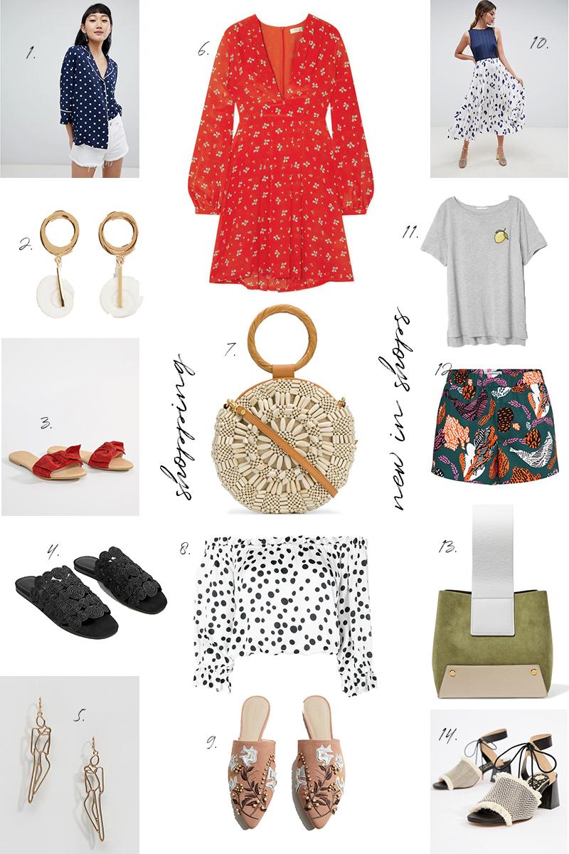 shopping, new in shops, trend, sommer, Punkte, dotted, skirt