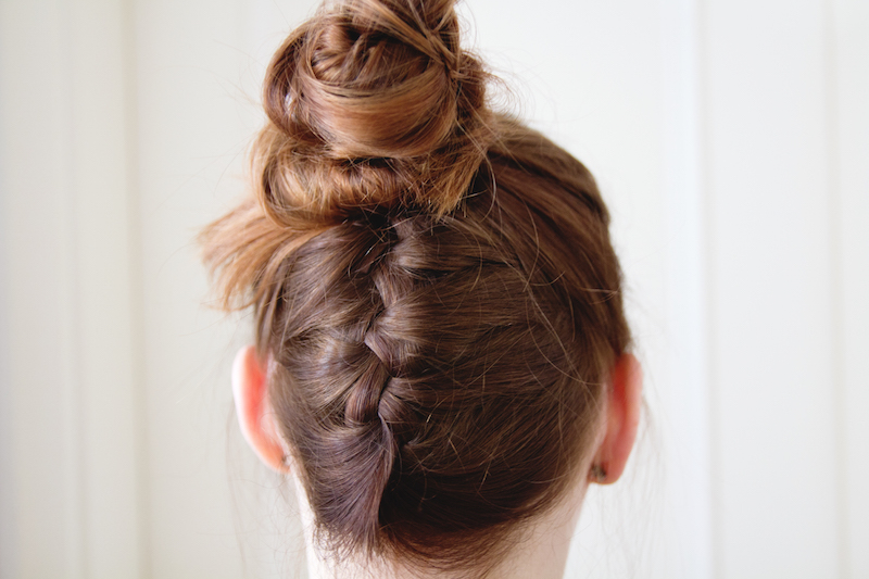 upside down french braided bun