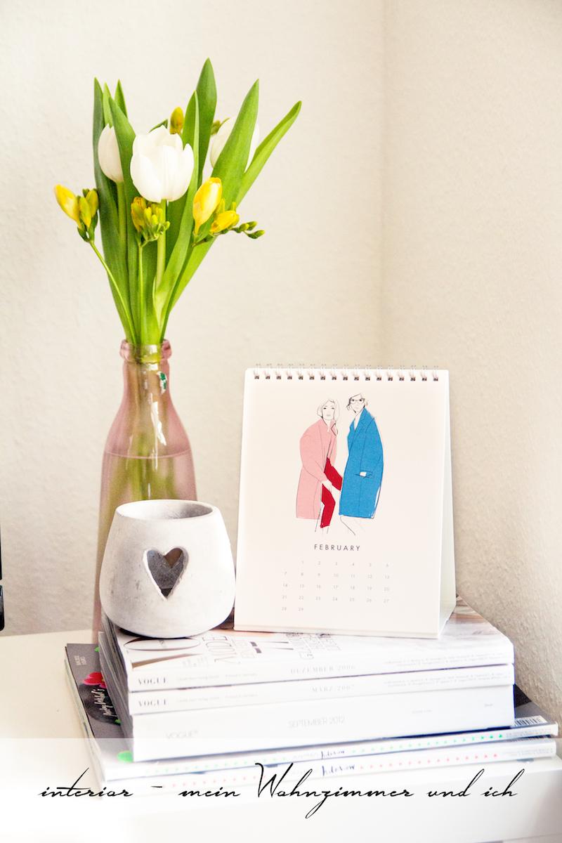 Wohnung, Einrichtung, Zeitschriften, Tulpen, Kalender