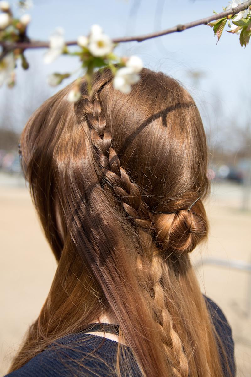 how to, flower braid, rosette braid, step by step