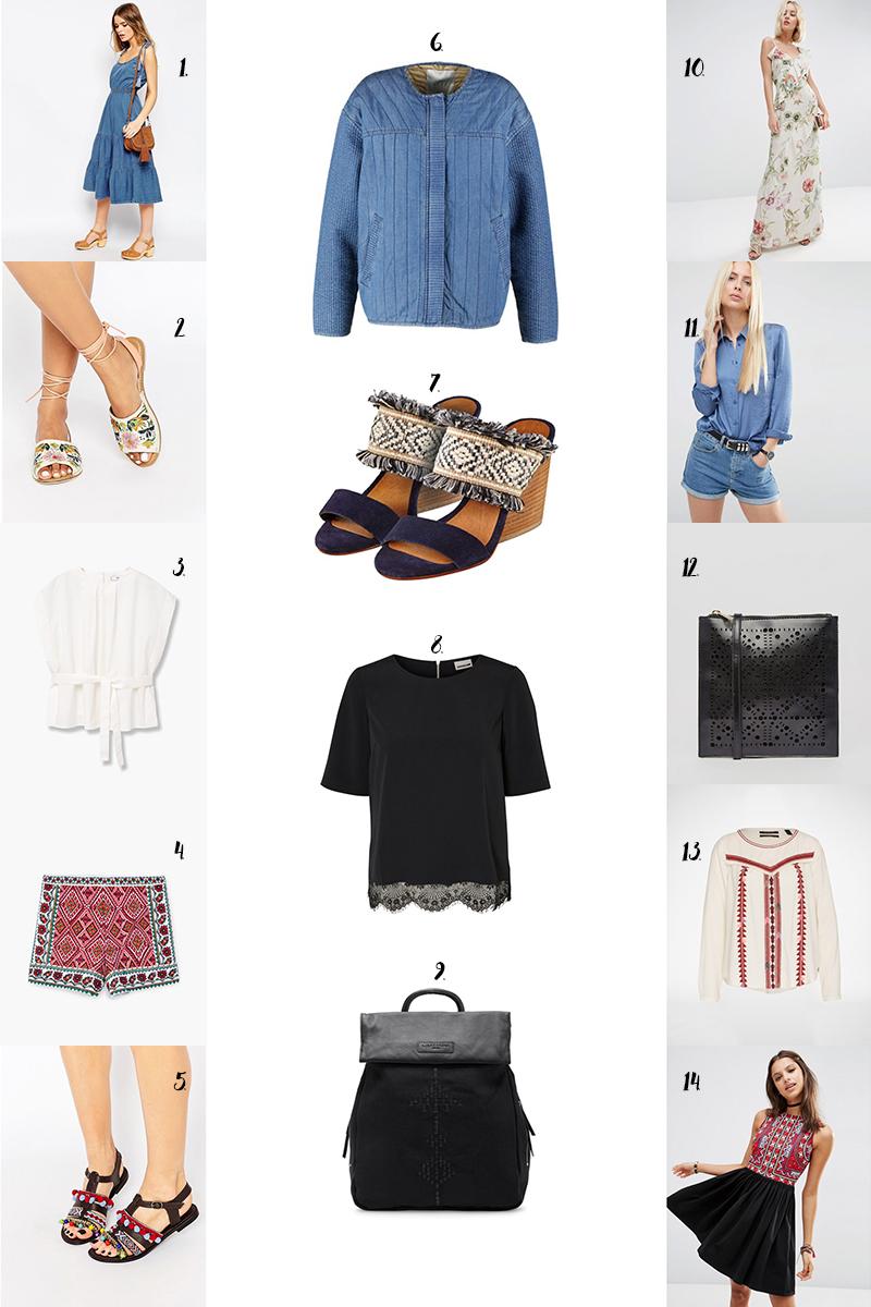 shopping, Asos Rabatt, sommer, Boho, Pom Poms