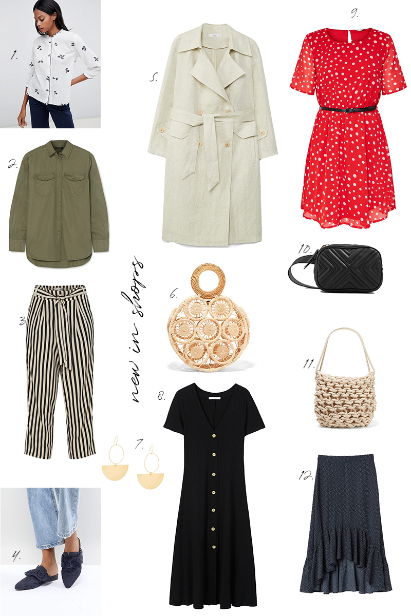 new in shops, online, shopping, summer, dresses, button down, straw bag