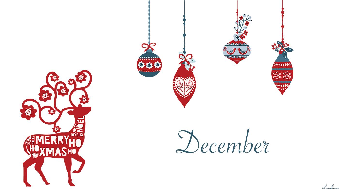 Dezember Wallpaper, Skandi, Design. Nordic, Christmas