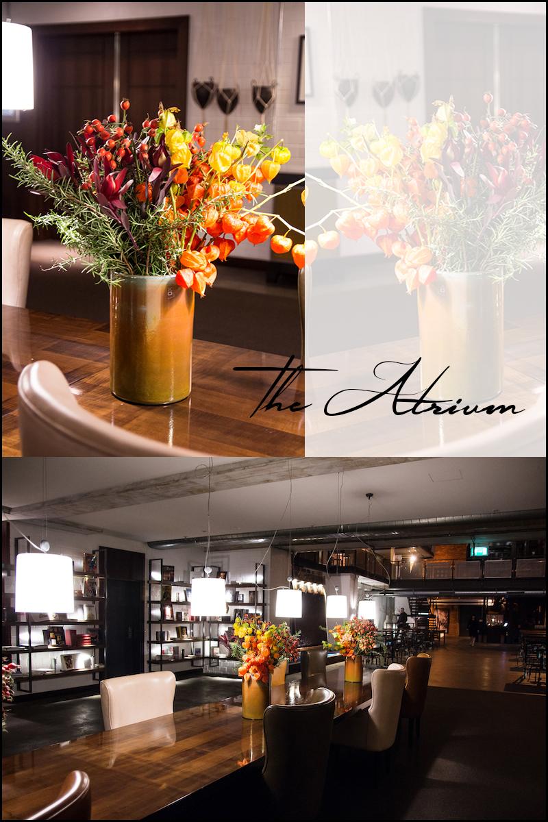 Atrium, großer Tisch, Gastwerk, Hamburg