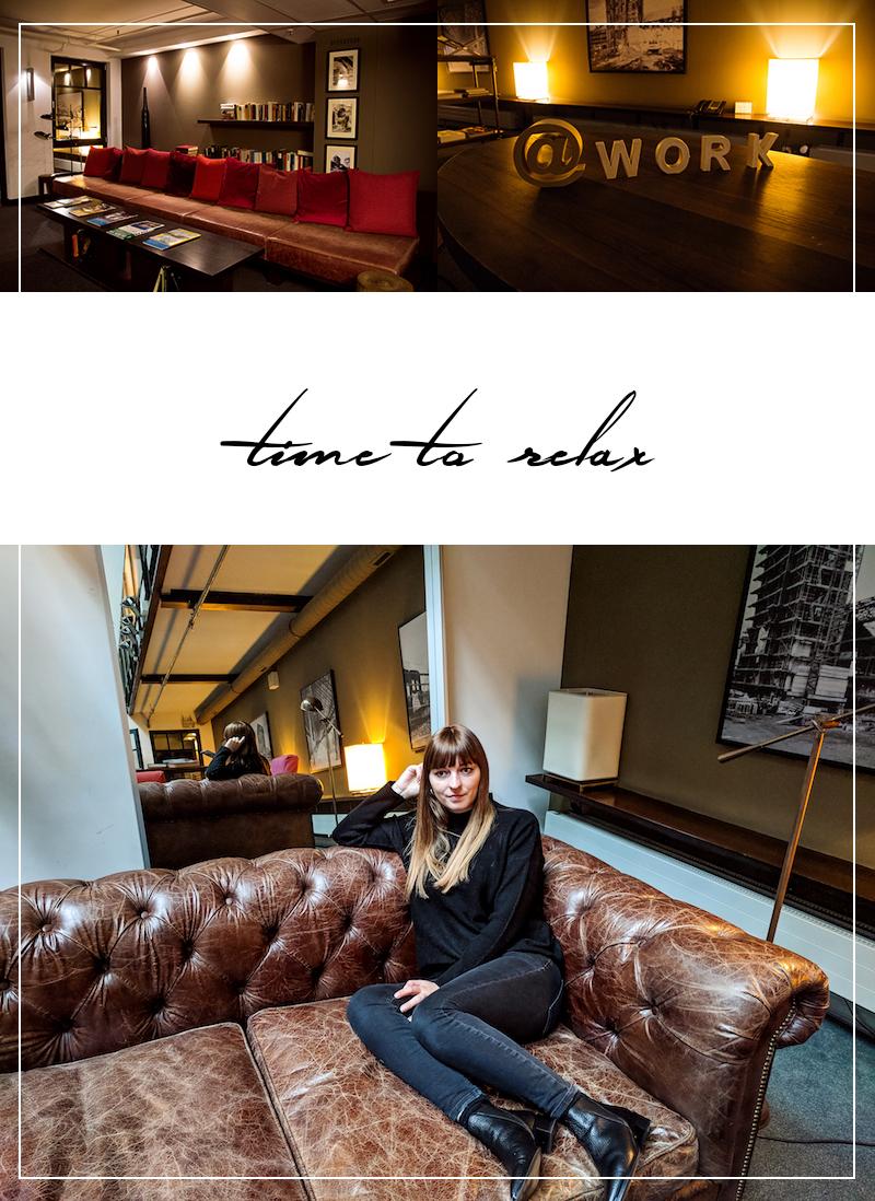 große Ledercouch, Hotel, Hamburg, Gastwerk, entspannen