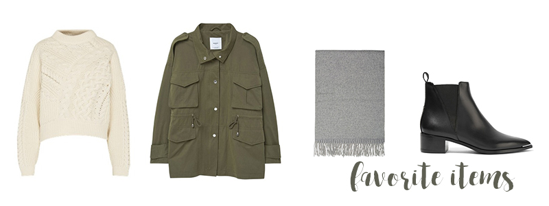 favorite items, autumn, fall, scarf, military jacket
