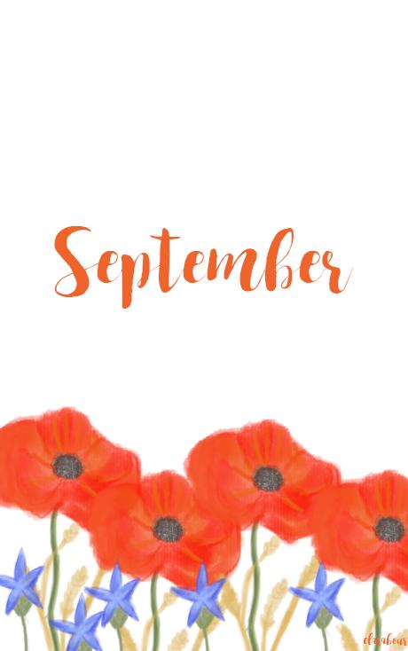 Smartphone, Wallpaper, Monhn, September, Desktop, Hintergrund, Handy