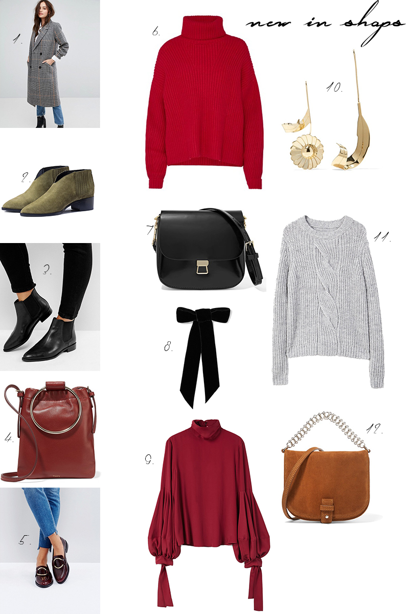 new in shops, Onlineshopping, Trend, Rot, karierter Mantel, checked coat, Herbst, how to wear